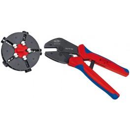 KNIPEX MultiCrimp® Lisovací kleště s výměnným zásobníkem, 250 mm, Knipex 9733-02