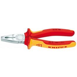 Kombinované kleště, 180 mm, elektrikářské, Knipex, 0306-180
