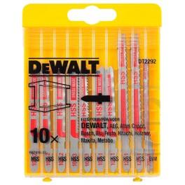Sada listů do přímočaré pily, 10 dílná, na kov, DeWalt, DT2292