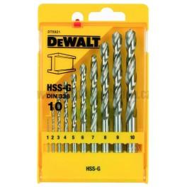 Sada vrtáků do kovu, 10-dílná, HSS-G, DeWalt, DT5921