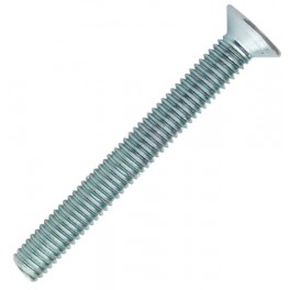 Šroub metrický DIN 965, zapuštěná hlava, zinek bílý, 6.0x50 mm, SMZ6/50