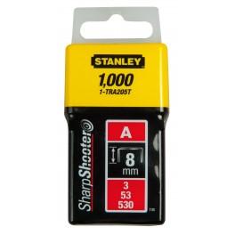 Spony standardní LD, 8 mm, 1000 ks, Stanley, 1-TRA205T