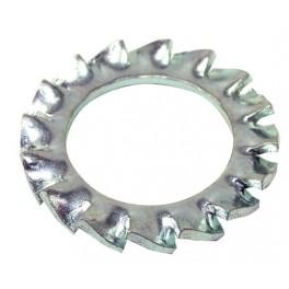 Podložka vějířová, DIN 6798, zinek bílý, 3 mm, PVE3