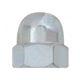 Matice klobouková, DIN 1587, zinek bílý, M3, MKL3
