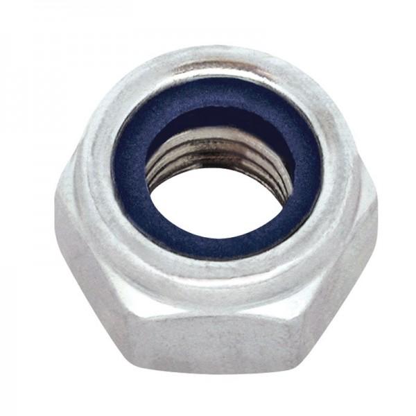 Matice pojistná, DIN 985, zinek bílý, 6 mm, MPO6