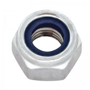 Matice pojistná, DIN 985, zinek bílý, M8, MPO8