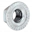 Matice s límcem, DIN 6923, zinek bílý, 8 mm, MLI8
