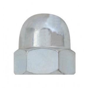 Matice klobouková, DIN 1587, zinek bílý, M6, MKL6