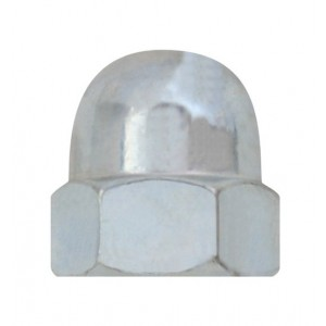 Matice klobouková, DIN 1587, zinek bílý, M8, MKL8