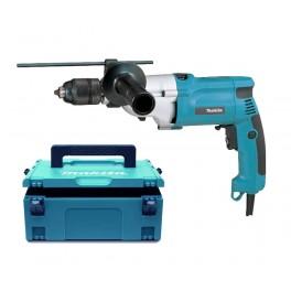 Elektrická příklepová vrtačka,   720 W, kufr, rychlosklíčidlo, 2-rychlostní, v systaineru, Makita HP2051HJ