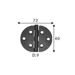 Pant černý, 60 x 72 mm, kruhový, SP1455