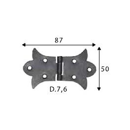 Pant černý, 50 x 87 mm, ozdobný, SP1456
