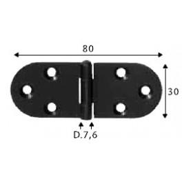 Pant černý, 30 x 80 mm, SP1460