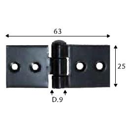 Pant černý, 25 x 63 mm, SP1451