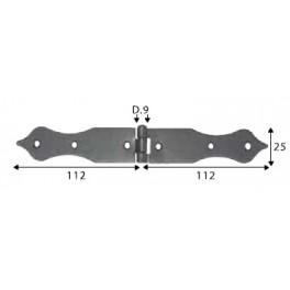 Pant černý, 25 x 112 x 112 mm, ozdobný, SP1465