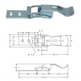 Bednový uzávěr, 21 mm, SP1500