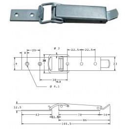 Bednový uzávěr, 19 mm, SP1490