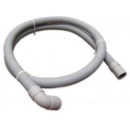 Pračková hadice vypouštěcí, rovná - koleno, 200 cm, PHVRK200