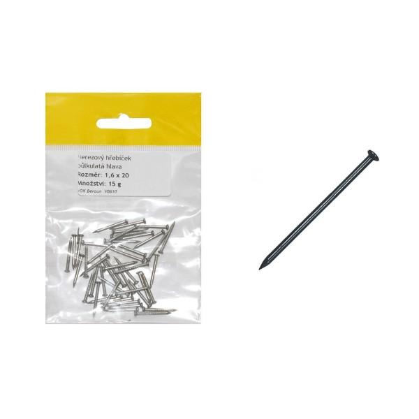 Sáček - nerez hřebíček, půlkulatá  hlava  1.8x 32mm, VB612