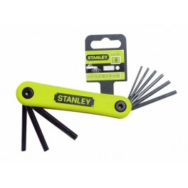 Sada zástrčných klíčů imbus, 9-dílná, palcový rozměr, Stanley, 4-69-259
