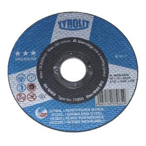 Řezný kotouč na kov, Premium ***, 125 x 1,0 x 22,2 mm, Tyrolit, RO125/1SE