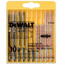Sada listů do přímočaré pily, 10 dílná, na dřevo i kov, DeWalt, DT2294