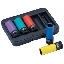 """Speciální nástrčné klíče na auta, 17 - 19 - 21 - 22 - 24 mm, 1/2"""", Bahco, BWSS12P5"""