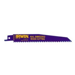List do mečové pily, 956R, 225 mm, 6TPI, pro řezání dřeva s hřebíky, bimetalový, 5 ks, Irwin, 10504158