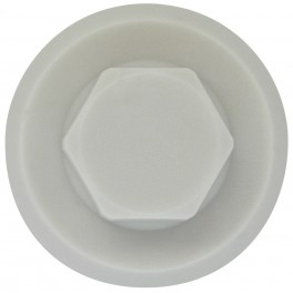 Krytka pro šestihranné šrouby, 10 / 23 mm, šedá, Friulsider, KR10SE