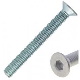 Šroub metrický, DIN7991, 4/ 8 mm, zapuštěná hlava, Imbus drážka, pevnost 10.9, zinek bílý, SMZI4/ 8ZB10