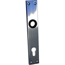 Štít dveřní, hliníkový, 90 mm, FAB, bez kliky, 26085, Komas, 003905