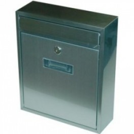 Poštovní schránka, Radim-M., šedá strukturovaná barva, 260 x 310 x 90 mm, 040429