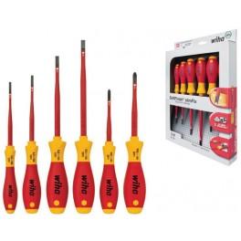 Sada šroubováků, 6-dílná, PL+PH, elektrikářská, SoftFinish, Slimfix, Wiha, W35389