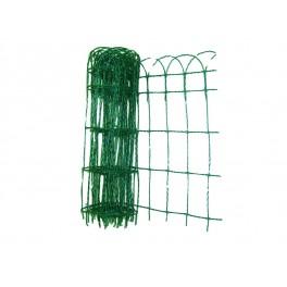 Okrasné pletivo, PVC povlak, 15x9 cm, 2 mm, 0,65 x 25 m, F42176
