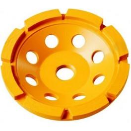 Diamantový brusný disk na beton, 125 mm, M14, jedna řada segmentů, DeWalt, DT3795