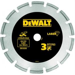 Diamantový kotouč, 230 x 22,2 mm, Laser, na tvrdé materiály, žulu, DeWalt, DT3763
