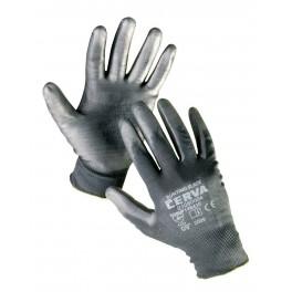 Rukavice povrstvené, černé, BUNTING BLACK, velikost 8, BUNTING-MC
