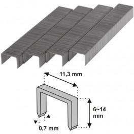 Spony do sponkovačky, typ R53, 1000 ks, 10 mm, Dedra, 11Z110