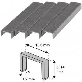 Spony do sponkovačky, typ 140, D11, 6 mm, 1000 ks, Dedra, 11Z206