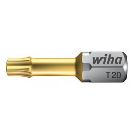 Bit torzní, s TIN povlakem, Torx® T20, 25 mm, Torsions, Wiha, W20976