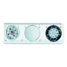 Pouze do vyprodání! Kompas s pravítkem a teploměrem, 30 x 85 mm, Victorinox, 4.0568.44