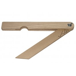 Úhelník dřevěný, 250 mm, Kinex, KUD250