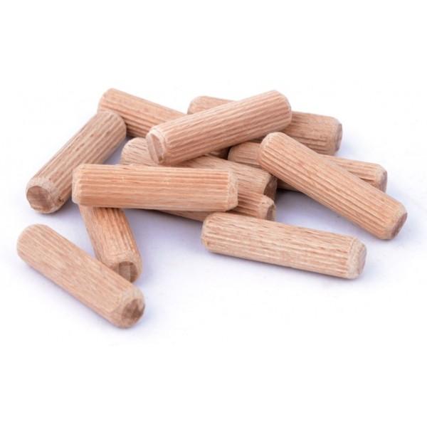 Dřevěné nábytkářské kolíky, 10x50 mm - 500 ks, DRKOL10X50-500