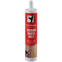 Silikon-akrylový tmel, bílý, 310 ml, Den Braven, 20202RL, DB01104