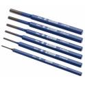 Sada průbojníků, 6-dílná, v plastovém pouzdře, 2-8 mm, Expert, E418226T
