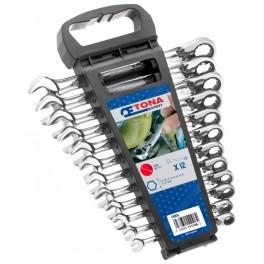 Sada ráčnových očkoplochých klíčů, 12-dílná, plastové pouzdro, Expert, E111106T