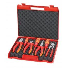 Sada nářadí, 7-dílná, v kufru, pro elektromontáže, Wera + Knipex, 0021-15