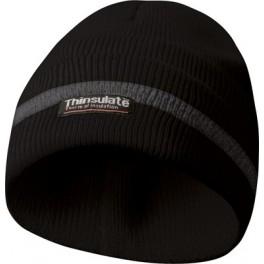 Čepice s reflexními proužky, černá, Thinsulate vložka, Gebol, GE700003