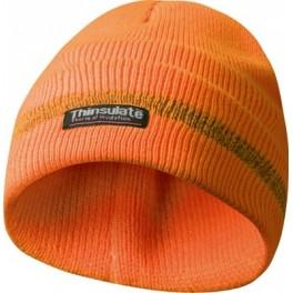 Čepice s reflexními proužky, oranžová, Thinsulate vložka, Gebol, GE700000