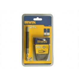 Sada bitů, 21-dílná, s magnetickým držákem, Irwin 1840465, 1840465